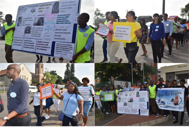 """UKZN and DoH Join Hands on """"Hear the Future"""" March"""